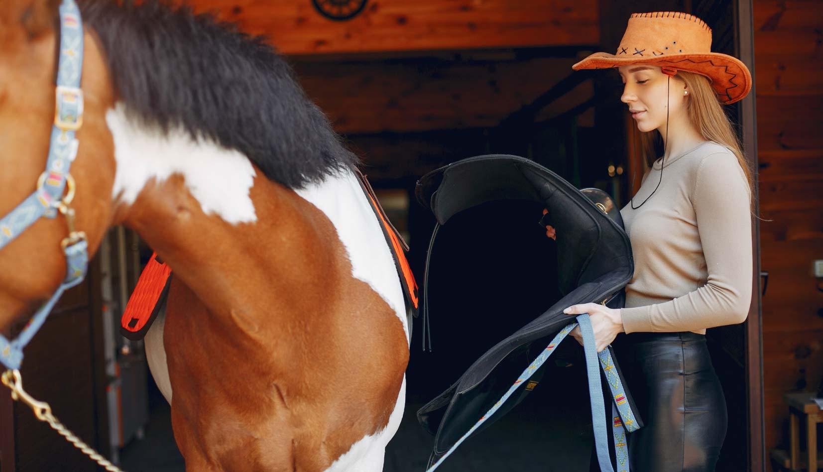 Cómo ensillar un caballo
